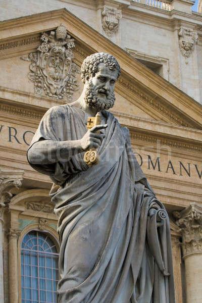 Posąg watykan Włochy szczegół sztuki Zdjęcia stock © Antartis