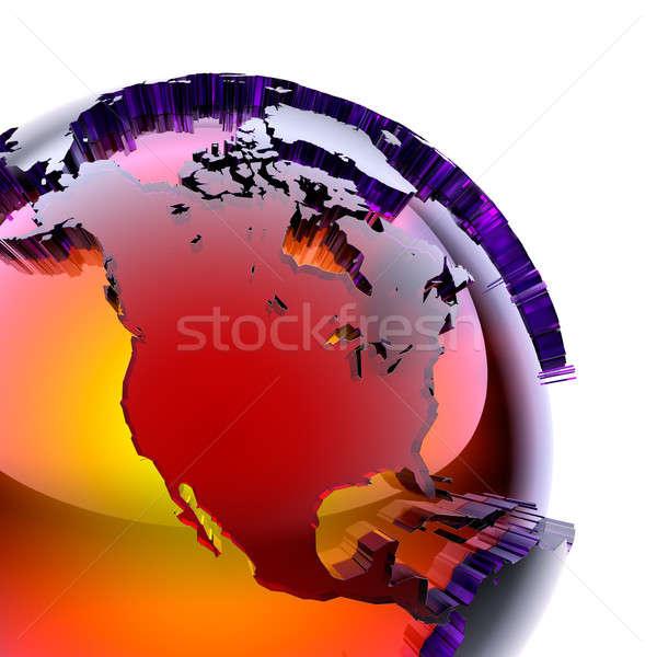 Dünya renkli cam iç sıcak parıltı Stok fotoğraf © Antartis