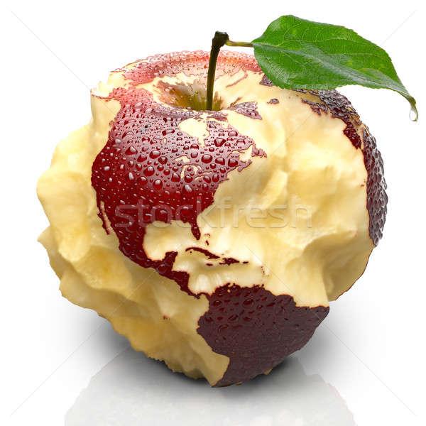 Pomme continents nord amérique du sud rouge Photo stock © Antartis