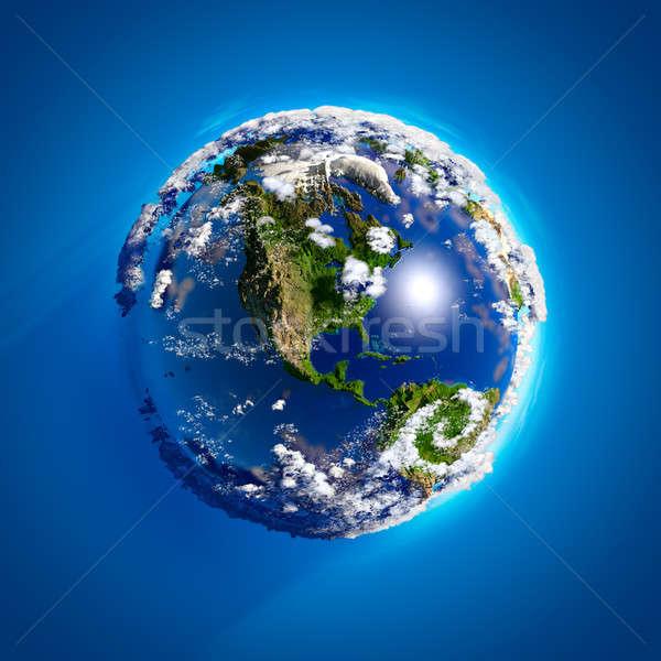 реальный земле атмосфера Океаны гор солнечный свет Сток-фото © Antartis
