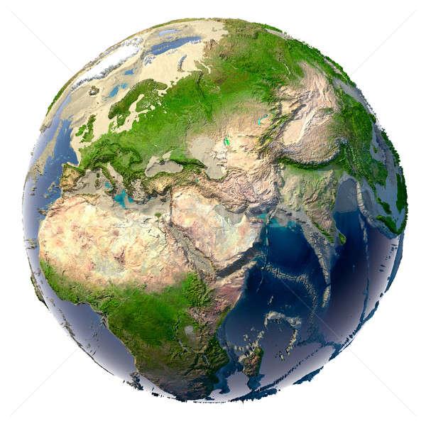 Kuraklık dünya gezegeni ekolojik toprak oceans Stok fotoğraf © Antartis