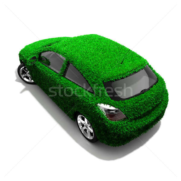 The metaphor of the green eco-friendly car Stock photo © Antartis