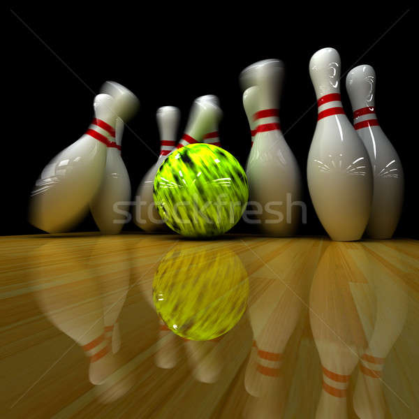 Yellow ball does strike! Stock photo © Antartis