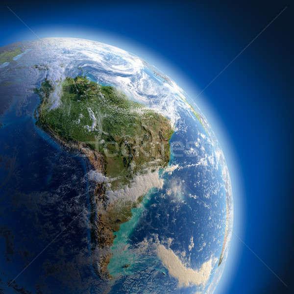 Ziemi wysoki ulga słońce szczegółowy Zdjęcia stock © Antartis