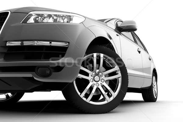 Foto stock: Carro · luz · roda · branco · dinâmico