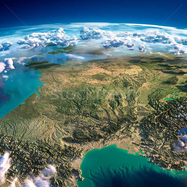 Föld Franciaország rendkívül részletes eltúlzott megkönnyebbülés Stock fotó © Antartis