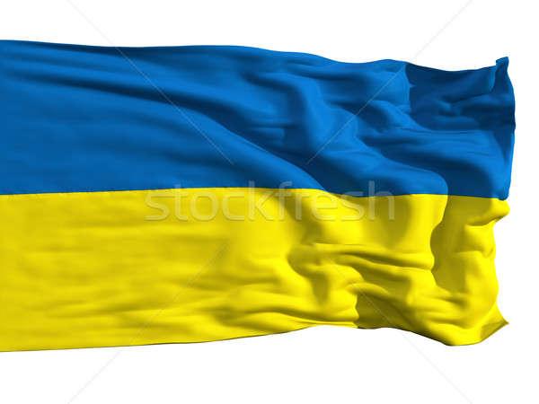 Ukrainian flag, fluttering in the wind Stock photo © Antartis