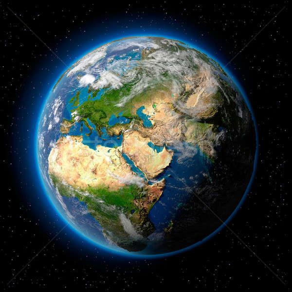 Toprak uzay dünya gezegeni su oceans Stok fotoğraf © Antartis