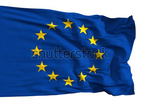 The European Union flag, fluttered in the wind Stock photo © Antartis