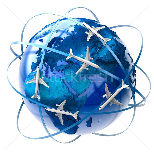 Stock photo: International air travel