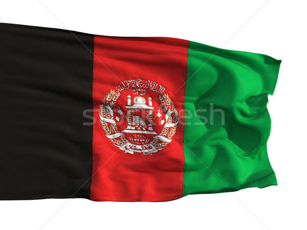 The flag of Afghanistan, flying in the wind Stock photo © Antartis