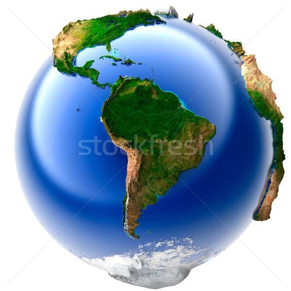 Miniature real Earth Stock photo © Antartis