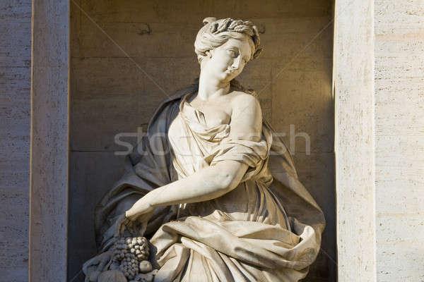 Fragment of a fountain of Trevi Stock photo © Antartis