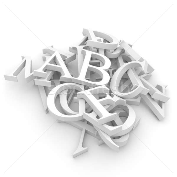 Alphabet letters poured in a heap Stock photo © Antartis