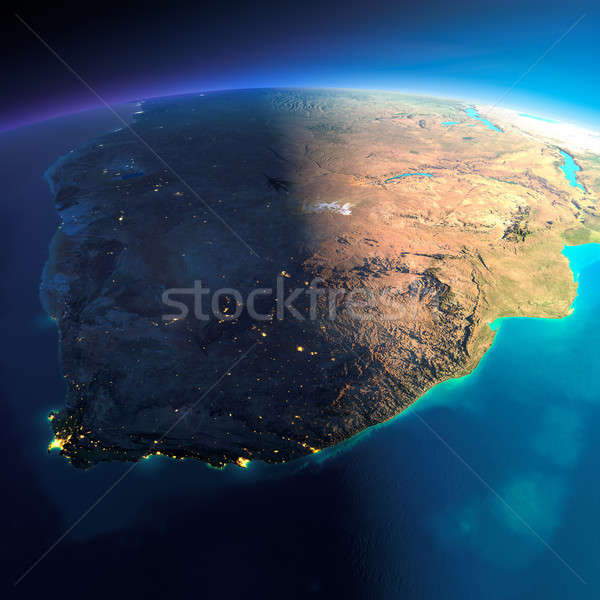Detailed Earth. South Africa Stock photo © Antartis