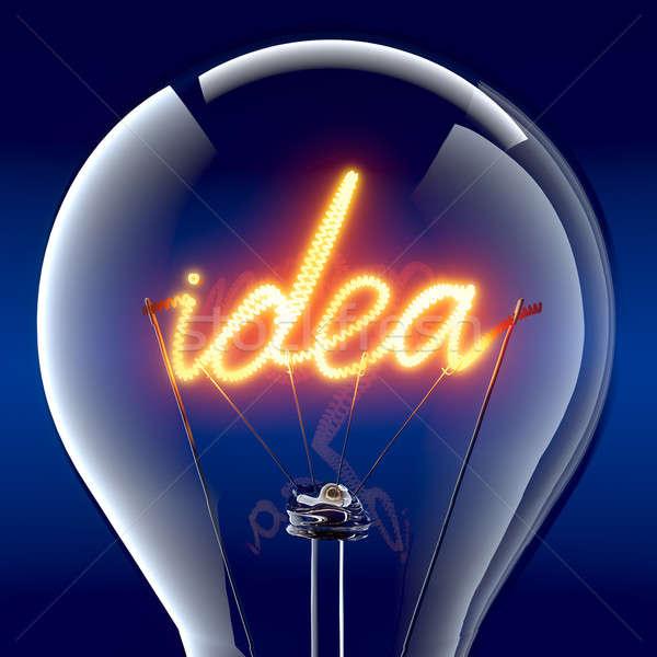 言葉 アイデア 電球 タングステン スパイラル ストックフォト © Antartis