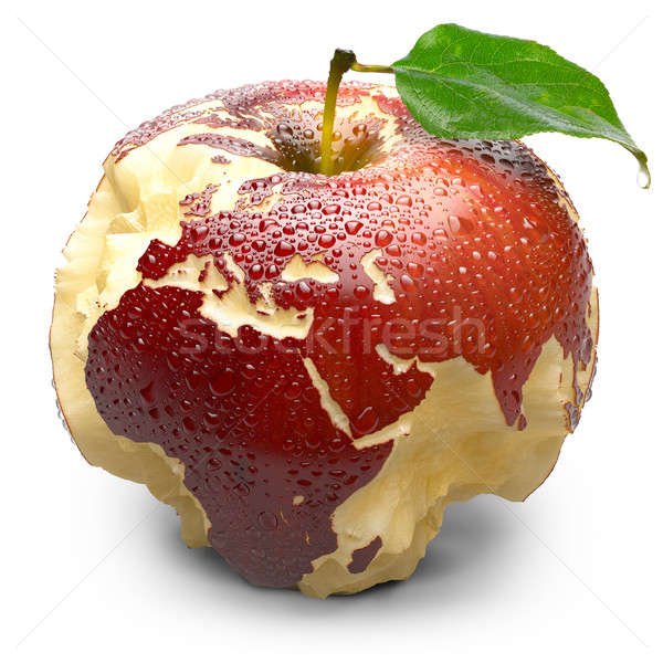 Pomme continents Europe Afrique rouge Photo stock © Antartis