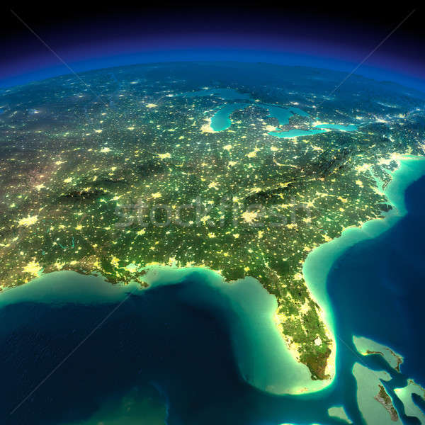 Night Earth. Gulf of Mexico and Florida Stock photo © Antartis