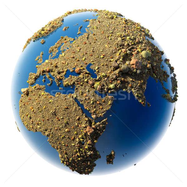 Stock foto: Sandigen · Planeten · Erde · Sand · Kies · Kieselsteine · Form