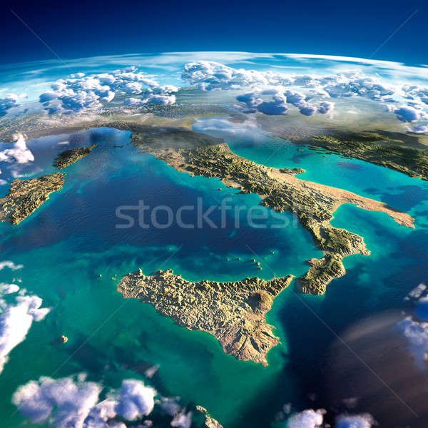 Fragments of the planet Earth. Italy and the Mediterranean Sea Stock photo © Antartis