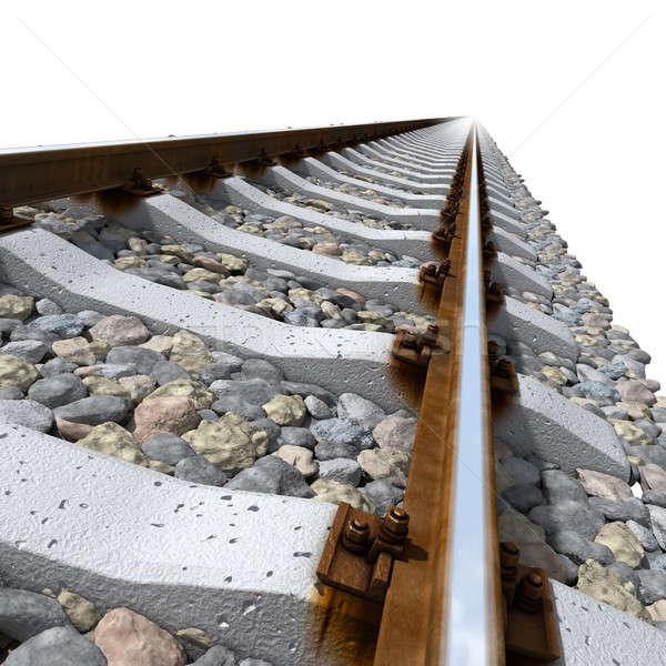 Rails lines on concrete sleepers Stock photo © Antartis