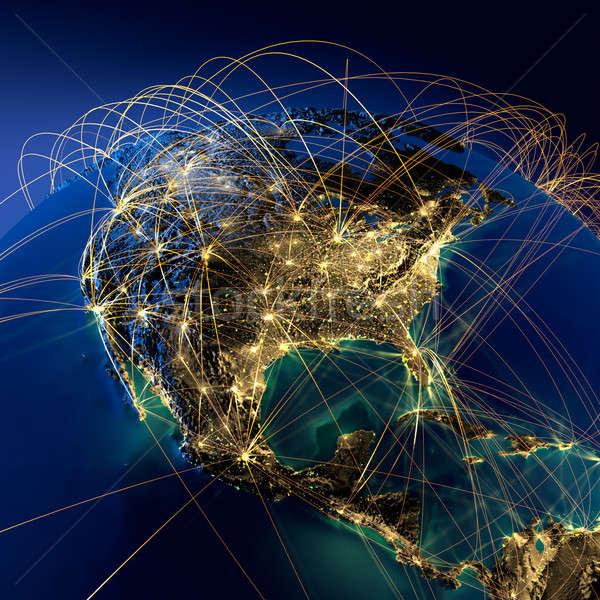 Fő- levegő észak Amerika rendkívül részletes Stock fotó © Antartis