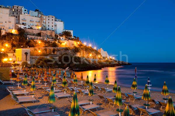 Stock photo: Evening view of the Italian city of Sperlonga