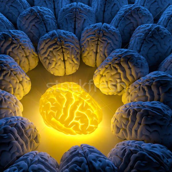 Uniek verstand origineel idee hersenen energie Stockfoto © Antartis