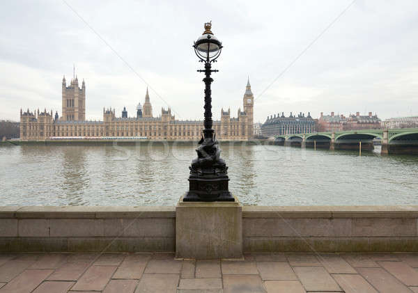 View of the Palace of Westminster from the Thames Stock photo © Antartis