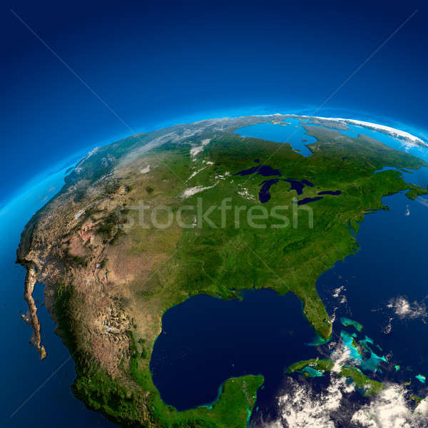 North America, the view from the satellites Stock photo © Antartis