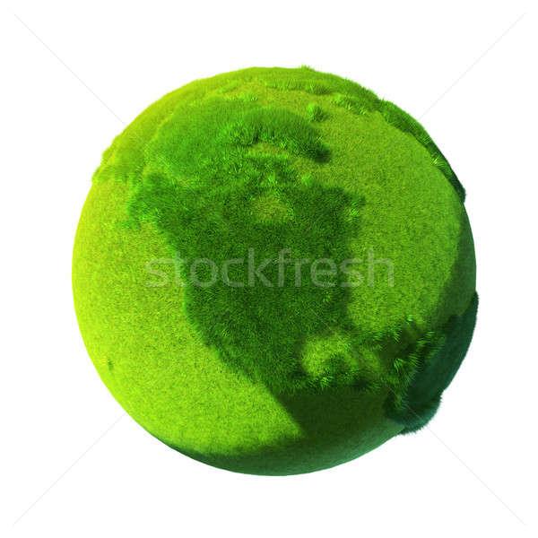 Stockfoto: Groene · aarde · gedekt · gras · metafoor · oppervlak