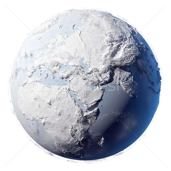 Stock photo: Snow Planet Earth
