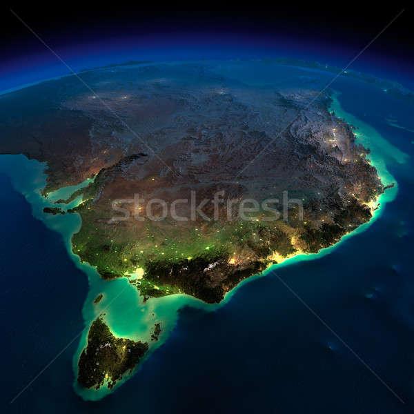 Noite terra Austrália tasmânia detalhado Foto stock © Antartis