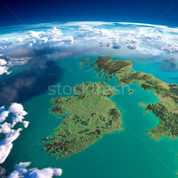 Dünya gezegeni İrlanda ayrıntılı yardım Stok fotoğraf © Antartis