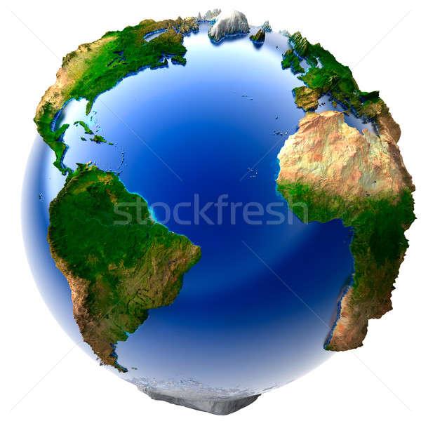 Miniatűr igazi Föld 3D modell földgömb Stock fotó © Antartis