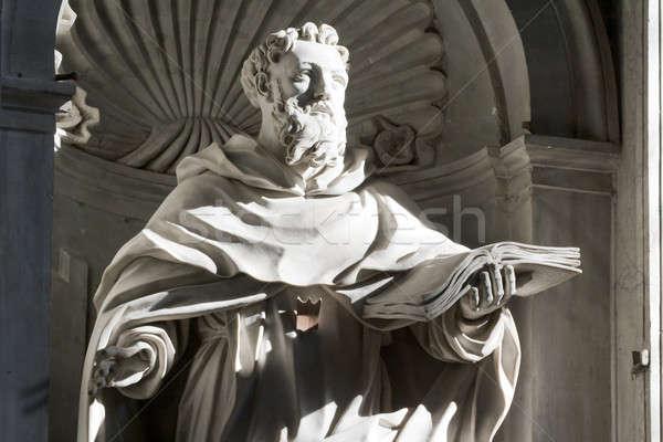Sculpture à l'intérieur St Peters Basilique Rome Italie niche Photo stock © Antartis