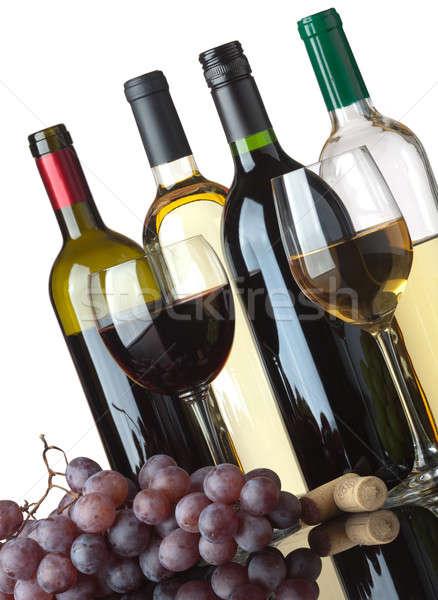 бутылок очки виноград несколько белый Сток-фото © Antartis