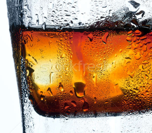 Closeup misted glass of whiskey Stock photo © Antartis