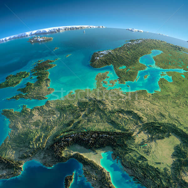 Detailed Earth. Central Europe Stock photo © Antartis