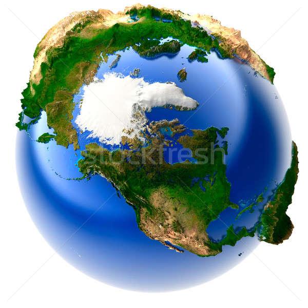 Miniature réel terre 3D modèle monde Photo stock © Antartis