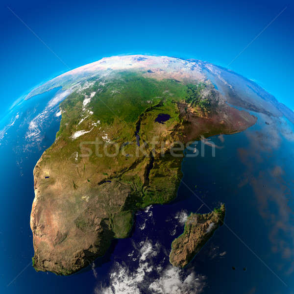 Beautiful Earth - South Africa and Madagascar from space Stock photo © Antartis