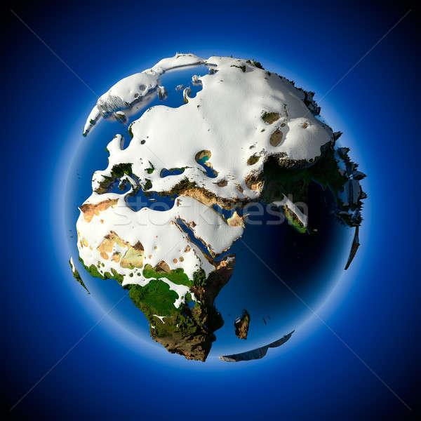 Pianeta terra coperto neve sollievo stagione invernale Meteo Foto d'archivio © Antartis