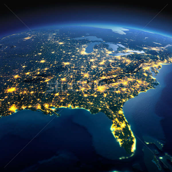 Detailed Earth. North America. USA. Gulf of Mexico and Florida o Stock photo © Antartis