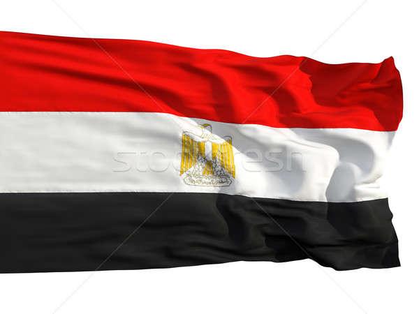 Flag of Egypt, fluttered in the wind Stock photo © Antartis