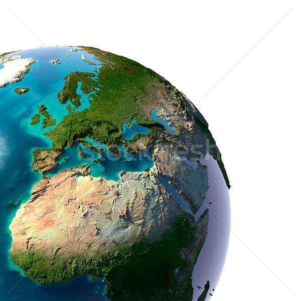 Valósághű Föld természetes víz Föld áttetsző Stock fotó © Antartis