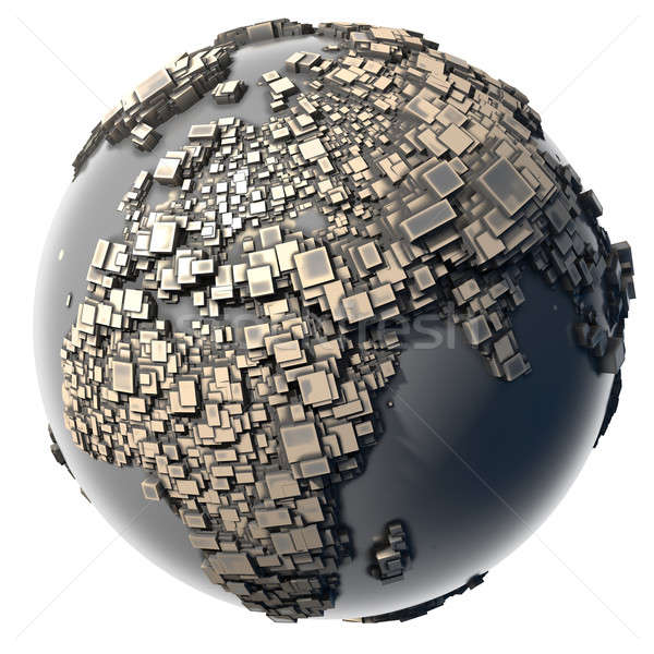 Metal Earth - the block structure Stock photo © Antartis