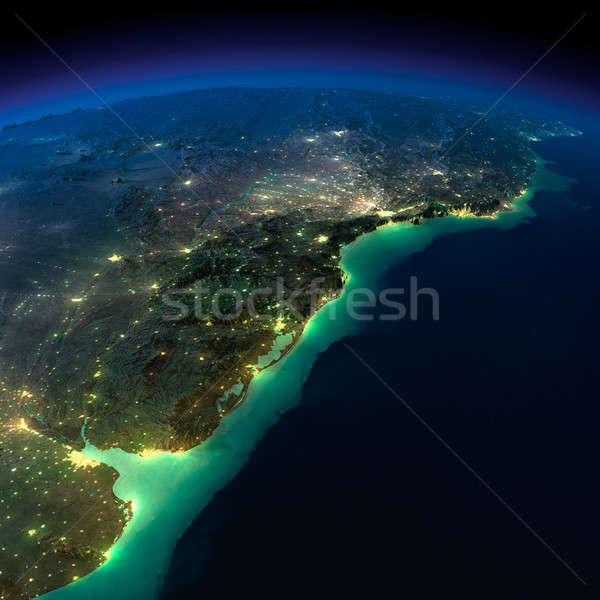Noc ziemi kawałek ameryka południowa Argentyna Brazylia Zdjęcia stock © Antartis