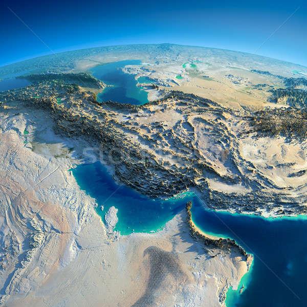 Szczegółowy ziemi wysoko planety Ziemi rano Zdjęcia stock © Antartis