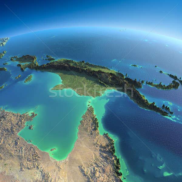 Detailed Earth. Australia and Papua New Guinea Stock photo © Antartis
