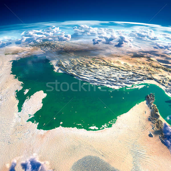 Stock photo: Fragments of the planet Earth. Persian Gulf